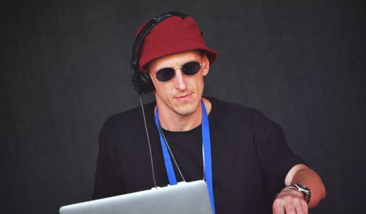 DJ BKEY performing at the Rap Koktebel festival in Crimea