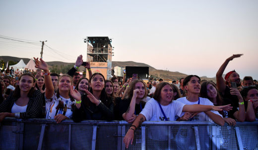 The audience at the Rap Koktebel festival in Crimea