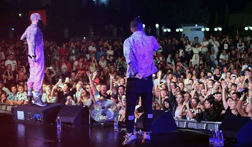 Rapper PLC  performing at the Rap Koktebel festival in Crimea